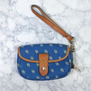 Dooney & Bourke Blue Logo Leather Coin Purse